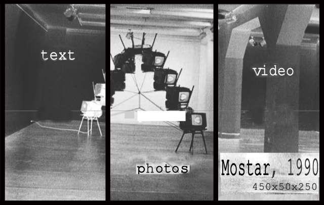 Mostar 1990 Videoskulptur Bilka Forum Ddorf Deutschland Viki